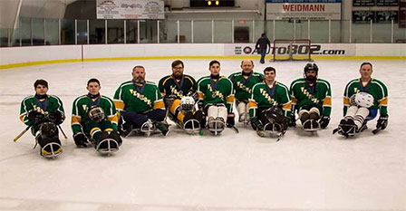 Vermont Sled Hockey Team Photo